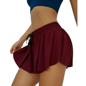 Women's Anti-glare Two-piece Yoga Shorts. YP-132
