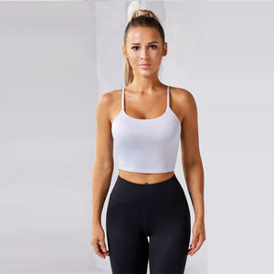 Pure Color Short Yoga Vest for Beginners. YT-025