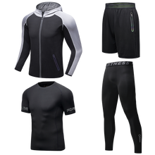 Load image into Gallery viewer, Men's Four-piece Running Fitness Sportswear. SR-08M