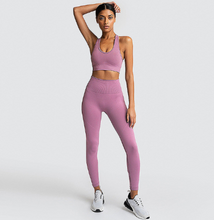 Load image into Gallery viewer, Seamless Tight Sports Yoga Suit. YS-004