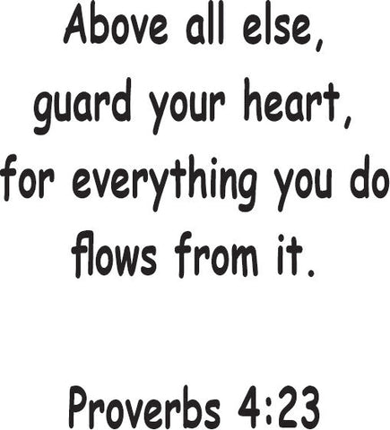 Above All Else Proverbs 4:23