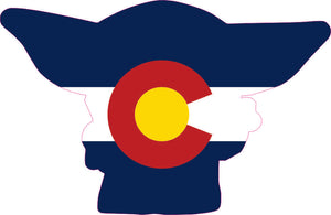 Baby Yoda Colorado Flag