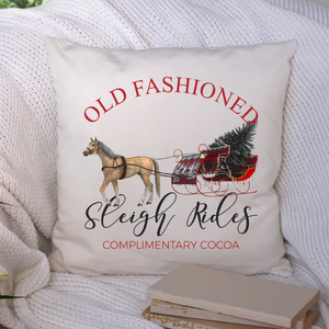 Old Fashioned Sleigh Rides Pillow