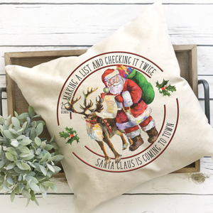 Santa Claus is Coming to Town Pillow