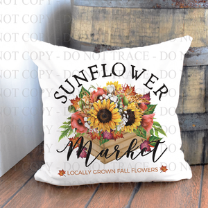 Sunflower Market Pillow
