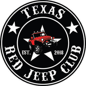 Texas Red Jeep Club Decal 4""