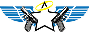Star with Wings and Halo and gun