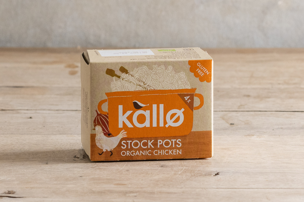 KALLO 4 Organic Chicken Stock Pots 96g