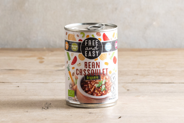 FREE AND EASY Organic Bean Cassoulet 400g