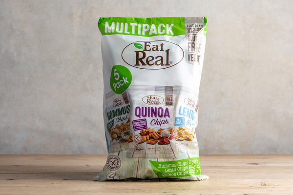 EAT REAL Multipack Hummus, Lentil & Quinoa Chips 116g