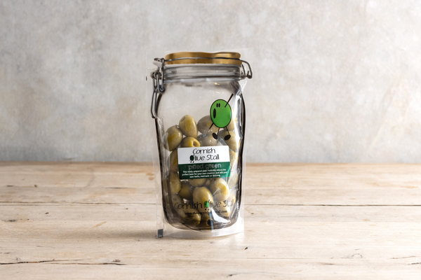 Cornish Olive Stall Pitted Green