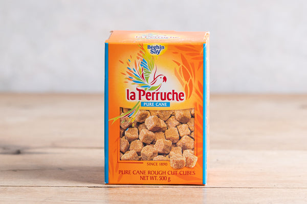 LA PERRUCHE Rough Cut Sugar Cubes - Brown 500g