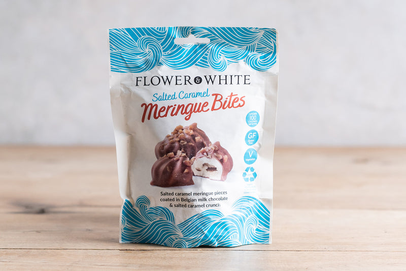 FLOWER & WHITE Salted Caramel Meringue Bites 75g