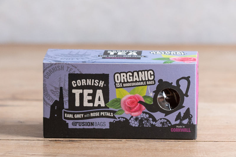 CORNISH Earl Grey with Rose Petals - Biodegradable Bags 15s