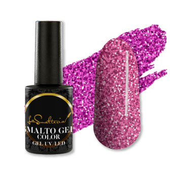 Smalto Color 072 GLITTER ROSA Gel UV/LED