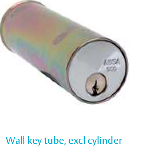 Wall key tube with barrel