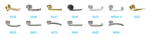 Door Handle - 6616 The Classic Series (Sprung)