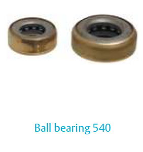 hinge Ball bearing 540-12 mm, steel, with brass cover ring