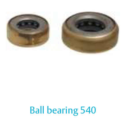 hinge Ball bearing 540-9,25 mm, steel, with brass cover ring