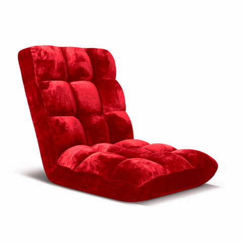 Floor Recliner Folding Lounge Sofa Cushion Red