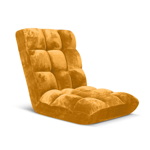 Floor Recliner Folding Lounge Sofa  Apricot