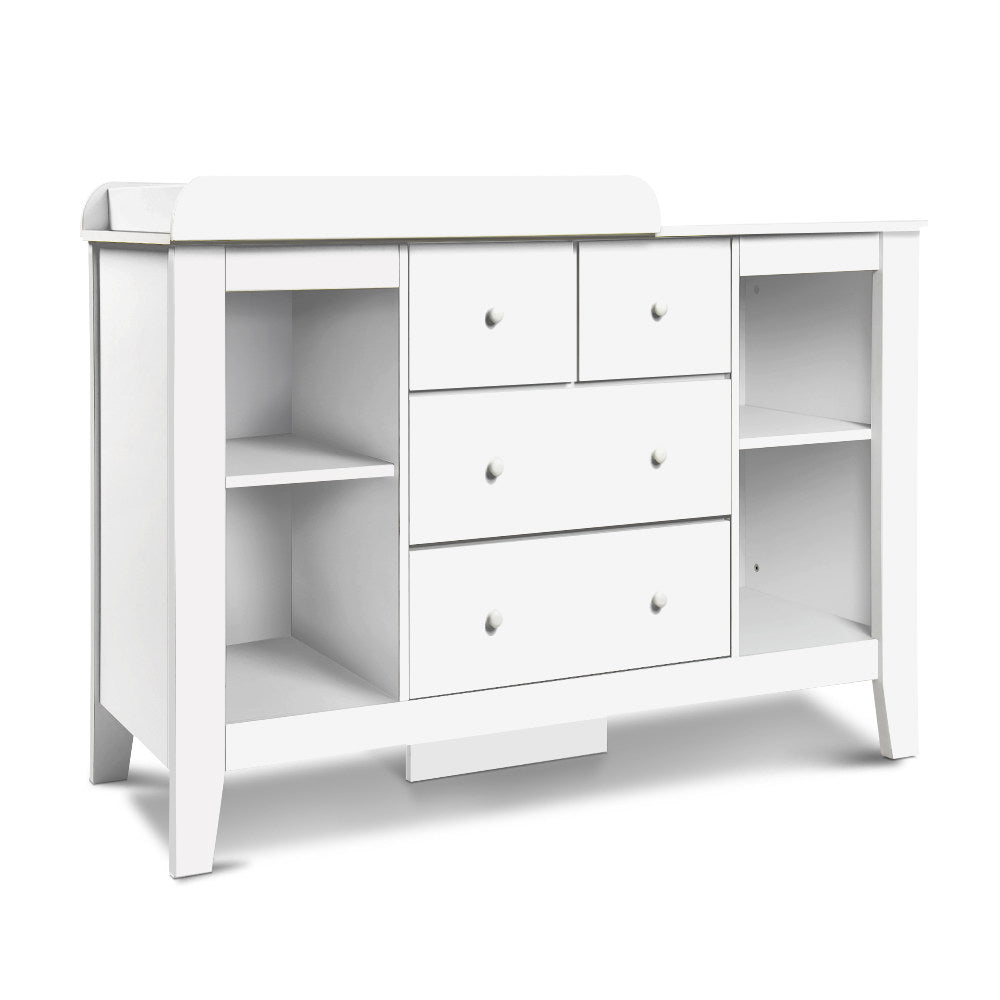 Keezi  Change Table with Drawers - White