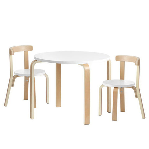 Keezi Nordic Kids Table Chair Set 3PC Desk Activity Study Play Children Modern