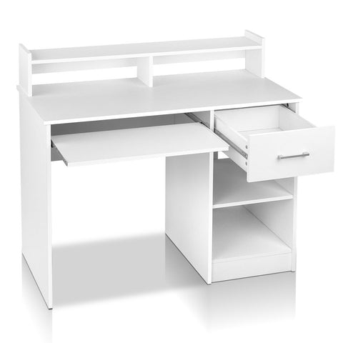 Artiss Office Computer Desk with Storage - White
