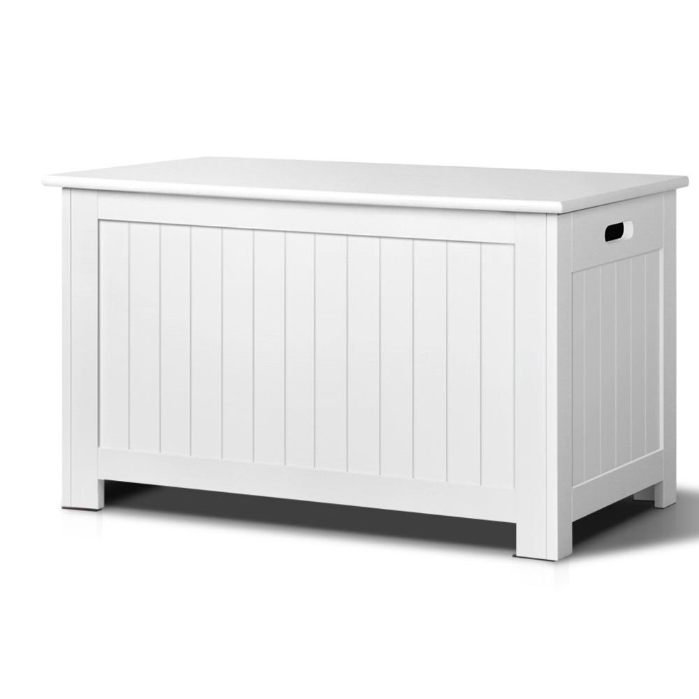 Kids Toy Box Storage Chest - White