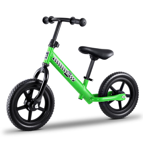 Kids Balance Bike Ride On Toys Puch Bicycle Wheels Toddler Baby 12 Bikes Green