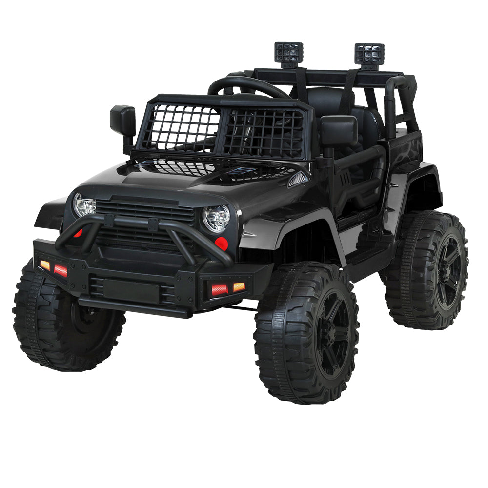 Kids Ride On Car Electric 12V Jeep Battery Remote Control Black