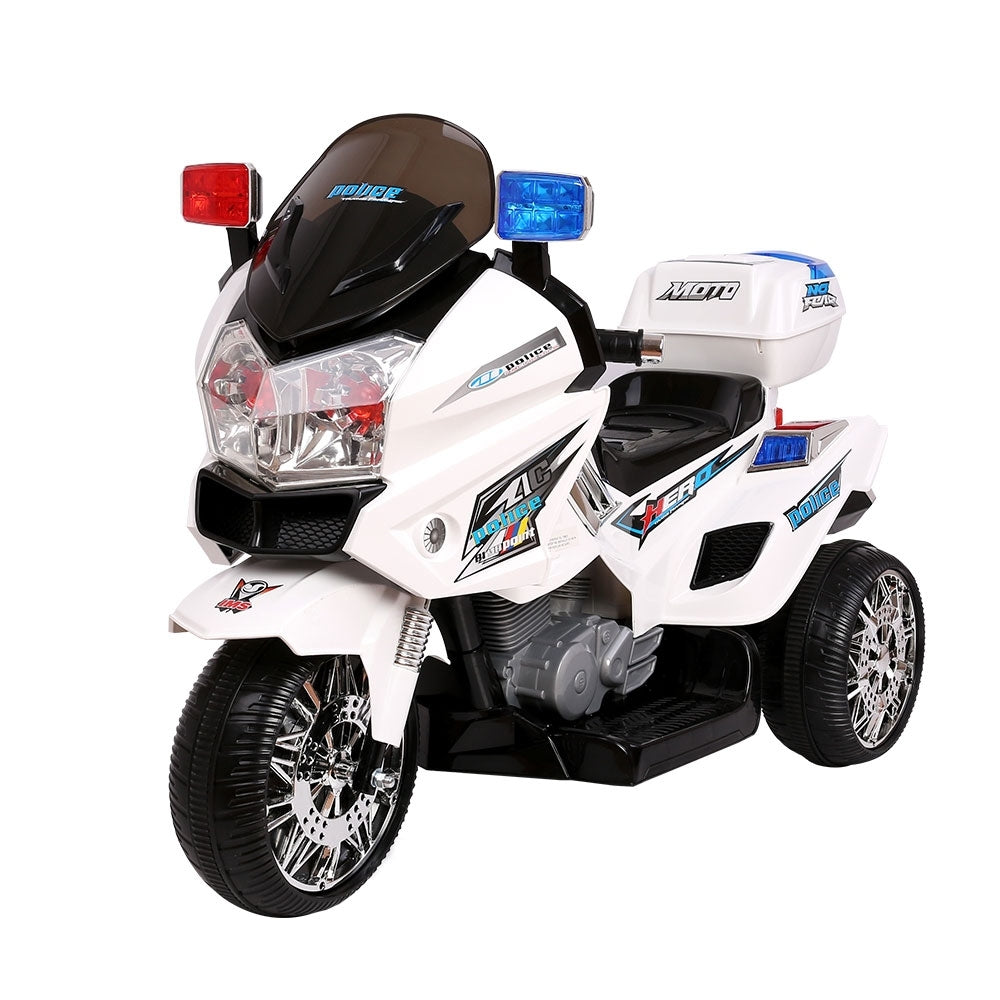 Kids Ride On Police Motorbike White