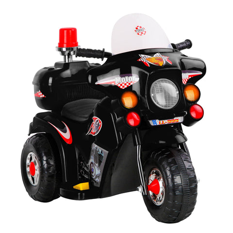Kids Ride On Police Motorbike Black