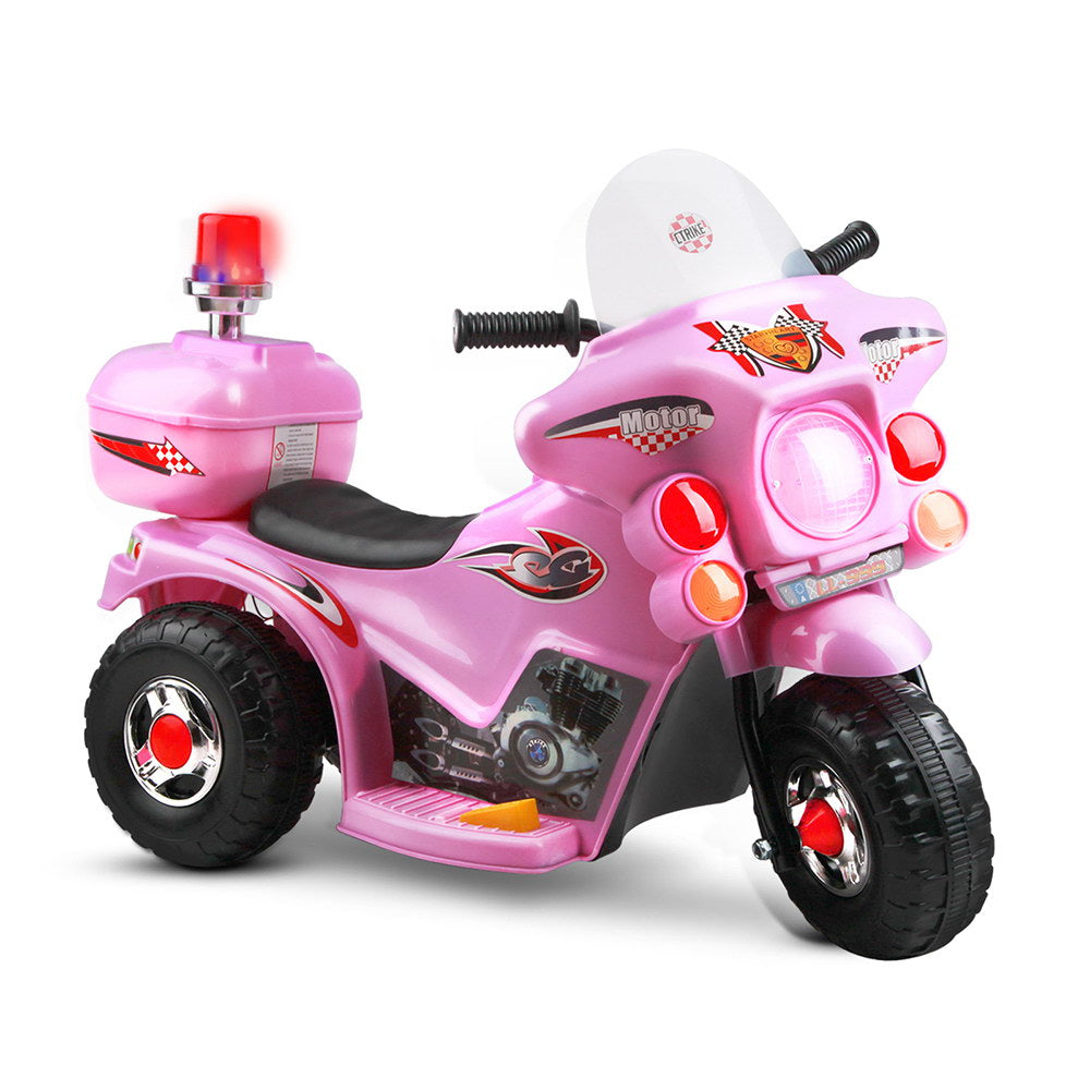Kids Ride On Police Motorbike Pink
