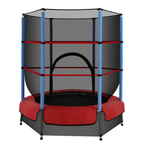 4.5FT Trampoline Round Trampolines Kids Enclosure Safety Net Padding Outdoor Indoor Gift Present