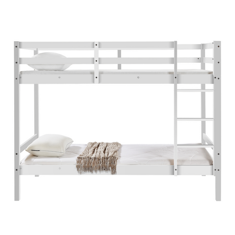 Tracey Solid Pinewood Kids' Single Bunk Bed White