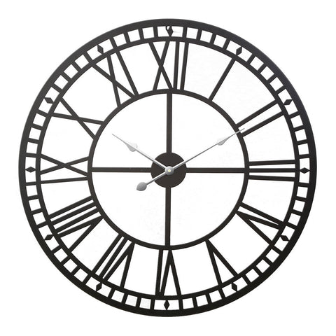 Wall Clock Large Modern Vintage Retro Metal Clocks Handmade Home Office Decor