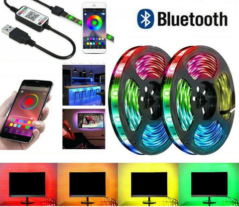RGB LED Strip Lights IP65 Waterproof | 12V USB Bluetooth