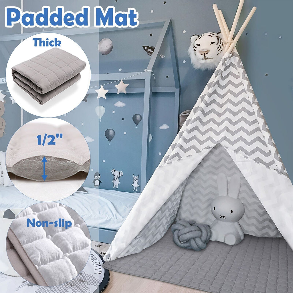 Teepee Tent for Kids With Padded Mat