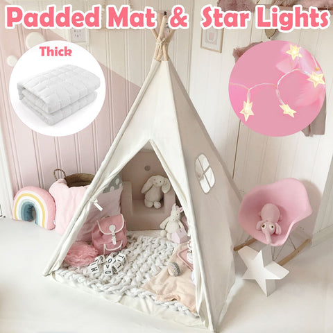 KIds Teepee+ Padded Mat+ Light+ Carry Bag Play Tent