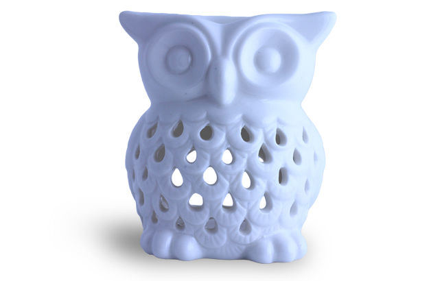 Owl Aromatherapy Oil Burner - White (1008)