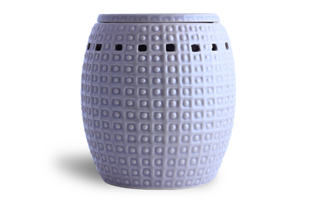 Aromatherapy Oil Burner - spotted pattern grey/taupe
