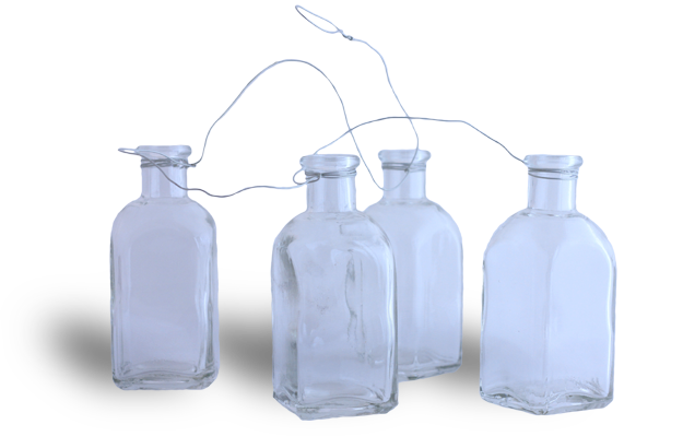 Cascading Bottle Vases