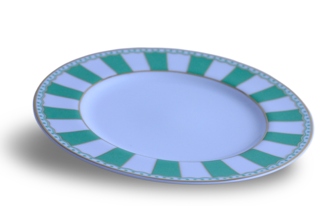 Mini Plate - Noritake Applegreen & White