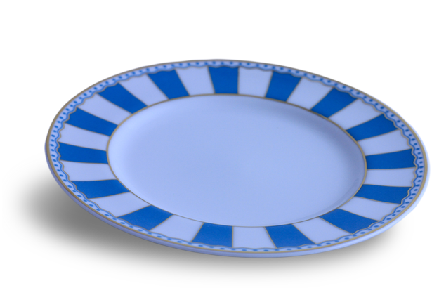 Mini Plate - Noritake light blue & white