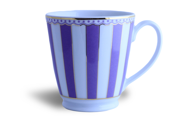 Coffee/Tea mug - Noritake lavender & white