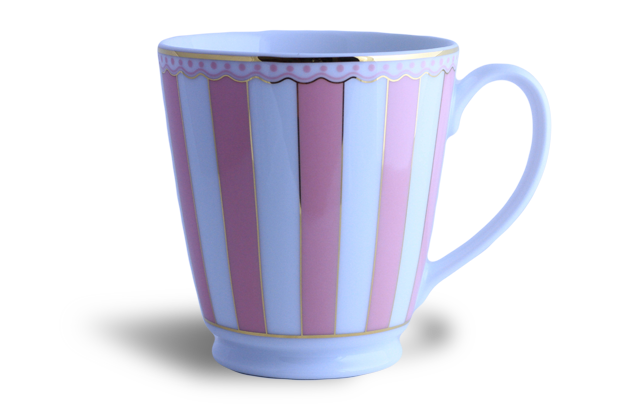 Coffee/tea mug - Noritake pink & white