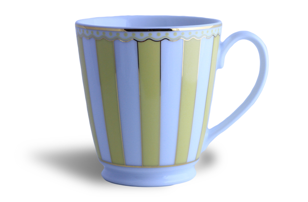 Coffee/tea mug - Noritake yellow & white