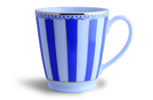 Coffee/tea mug - Noritake blue & white