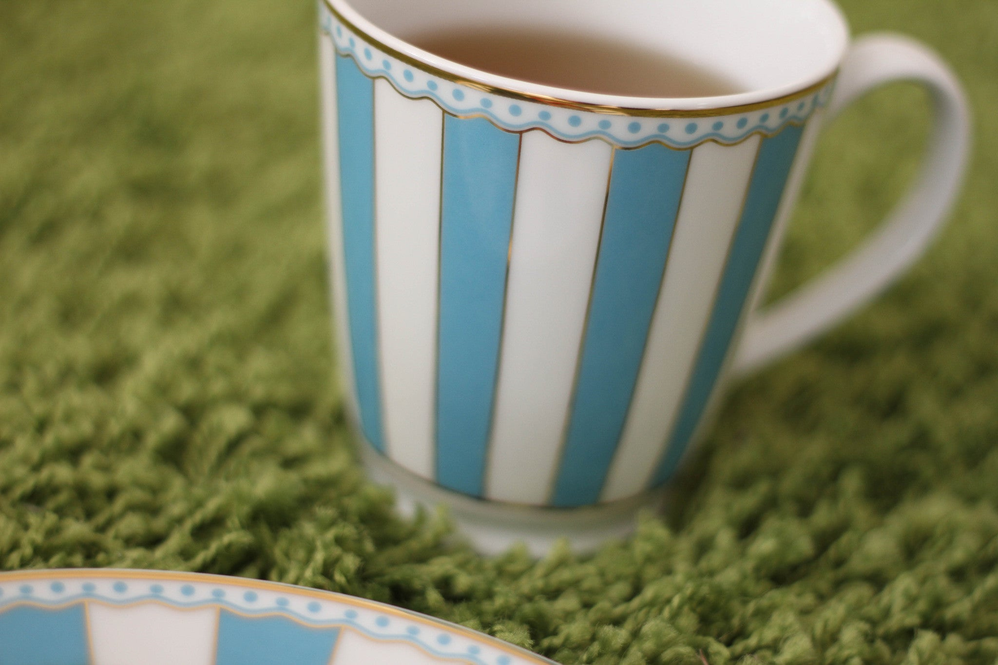 Coffee/tea mug - Noritake light blue & white